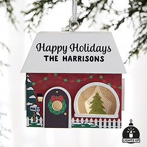 Christmas House Personalized Light Up Ornament - 21968