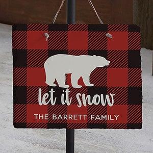 Cozy Cabin Buffalo Check Personalized Slate Plaques - 22080
