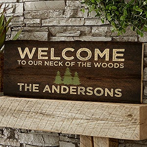 Cozy Cabin Personalized Basswood Plank Signs - 22082