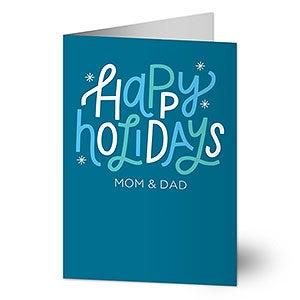 Happy holidays greeting card holiday stationery happy holidays personalized greeting cards 22184 m4hsunfo