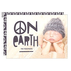 peace on earth holiday card holiday stationery