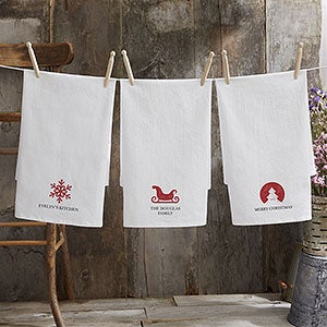 Christmas Icon Personalized Flour Sack Towel - 22318