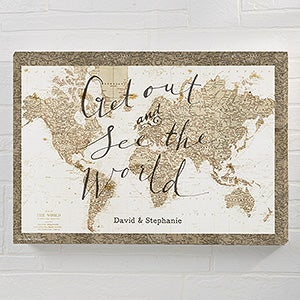 See The World Personalized World Map Canvas Prints - 22408