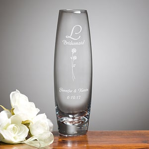 Wedding Memories Personalized Bud Vase - 2268
