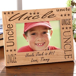 Custom Engraved Uncle Wood Picture Frame - 2278