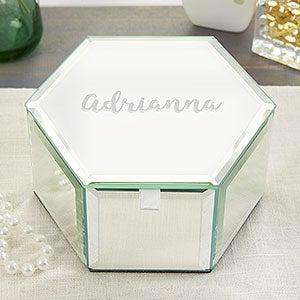 Monogram Jewelry Box Acrylic Box Jewelry Box Personalized Jewelry Boxes Women Acrylic Jewelry Tray Graduation Present