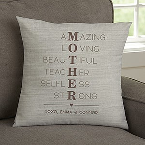 Mother Acronym Personalized Mother S Day Pillows