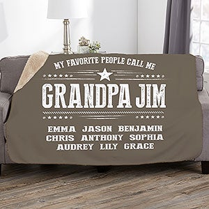 eca6656fe ... My Favorite People Call Me Personalized Blankets - 23253. $59.99sale