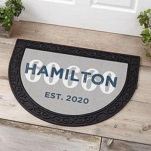 Location Personalized Half Round Doormat-23612