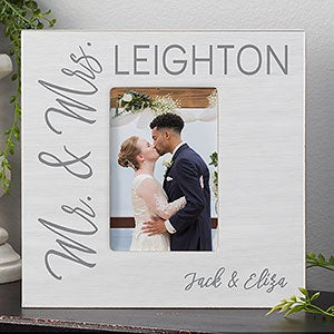 Stamped Elegance Wedding Personalized Box Picture Frame-Vertical-23638-V