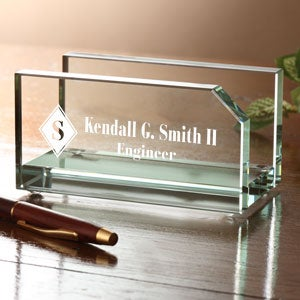 Personalized executive glass business card holder executive personalized business card holder colourmoves