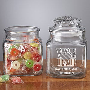 Personalized Candy Jar For Dad - 2374