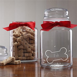 Personalized Good Doggy Treat Jar For Dogs - 2375