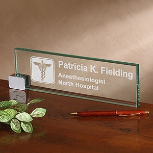Personalized Desk Nameplate Medical Practice Design 2377