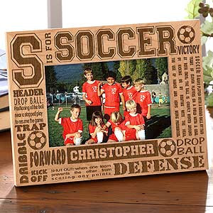 Picture Frames  Quotes on Personalized Soccer Picture Frame   4x6 Photo   2440