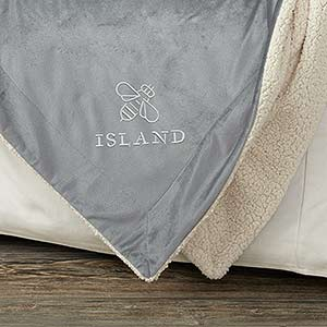 Personalized Business Logo Sherpa Blankets - 50x60 - 24520