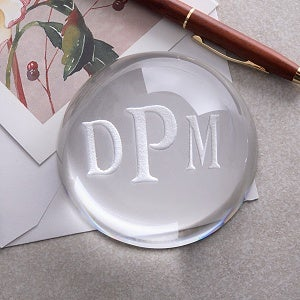 Personalized Crystal Prism Paperweight - 2455