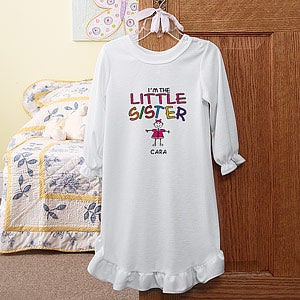 Personalization Mall Personalized Kids Nightgown - I'm The Sister at Sears.com