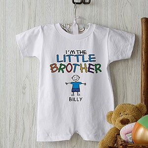 Personalization Mall Personalized Baby T-Romper - I'm The Brother at Sears.com