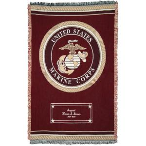 Military Emblem Personalized Blankets - 2507D