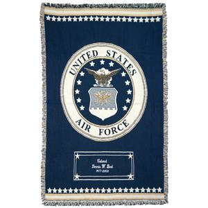 Personalization Mall Air Force Emblem Personalized Military Blanket at Sears.com
