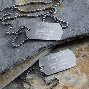 Kids Custom Personalized Dog Tag Set - 2513