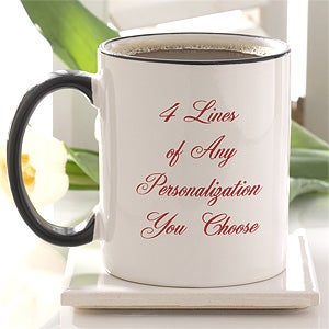 Personalized Ceramic and Travel Mugs - Printed With Your Message - 2514