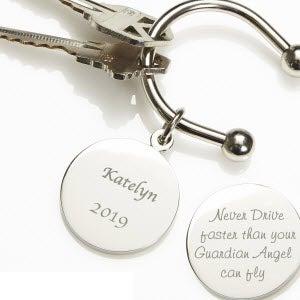 Guardian Angel Custom Engraved Keyring - 2518