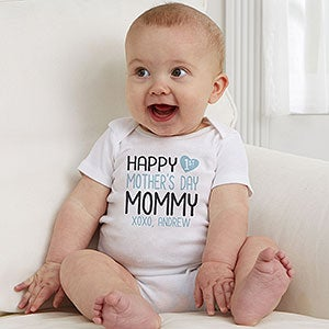 Personalised Happy 1st Mothers Day Mothers Day Baby Bodysuit Baby Vest 114