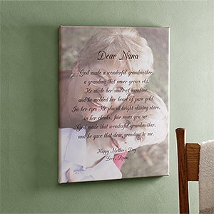 Custom Photo Canvas Art with Poems for Her - 2564