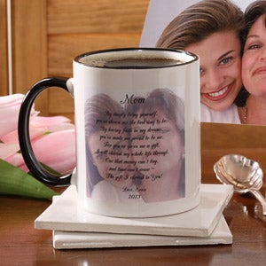 Personalized Photo Coffee Mugs For Mom - Photo Sentiments - 2565