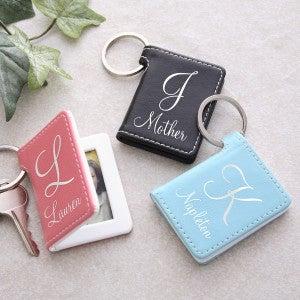 Leather Photo Key Ring