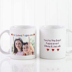 Personalized Photo Message Coffee Mugs - Loving Him Design - 2584