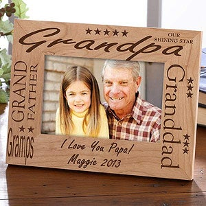 Love Grandpa Picture Frame on Personalized Grandpa Wood Picture Frame   2587
