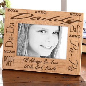 Personalization Mall Engraved Wood Picture Frame For Daddy at Sears.com