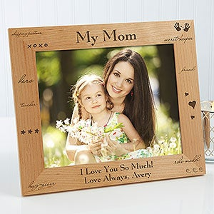 Engraved Wood Custom Picture Frame - What You Mean To Me - 2598