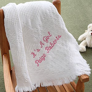 Personalized Baby Love Fringe Blanket - 2618