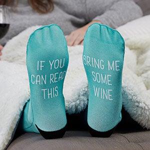 Scripty Style Personalized Adult Socks-26809