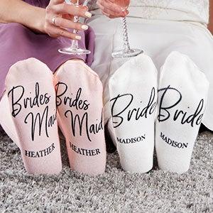 Classic Elegance Personalized Bridesmaid Socks - 26871