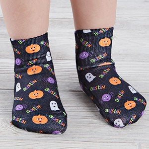 Halloween Character Personalized Toddler Socks-26892