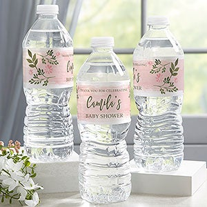 Floral Water Bottle Labels Wildflower Baby Shower Birthday Bridal Shower Custom Water Bottle Label Printable Gold Foil A15 B14 C17 R2