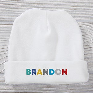 Vibrant Name Personalized Baby Boy Hat