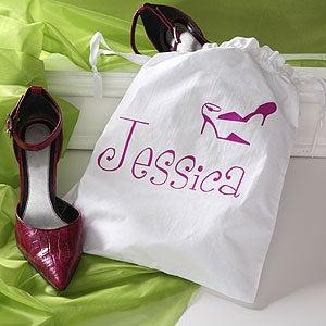Personalized Womens Drawstring Shoe Bags - 2795