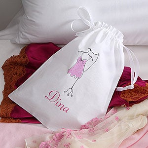 Ladies Personalized Drawstring Lingerie Bag - 2797
