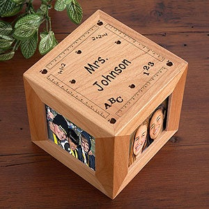 Personalization Mall Personalized Wood Photo Cube For Teachers at Sears.com