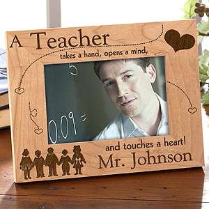Engraved Wood Teacher Picture Frame - 2801