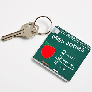 Chalkboard Teacher Personalized Keychain