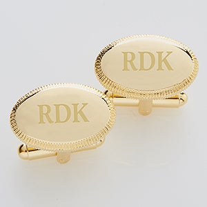Personalized Gold Cuff Links - Monogram Elite Collection - 2823