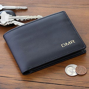 Personalized Leather Bi-Fold Wallet - Regent Collection - 2839