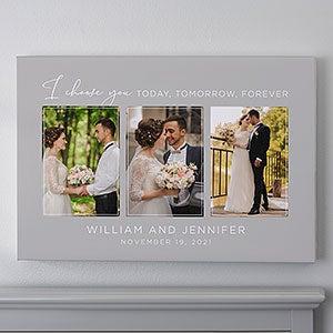 I Choose You Wedding Photo Canvas Print 16x20 Wedding Gifts